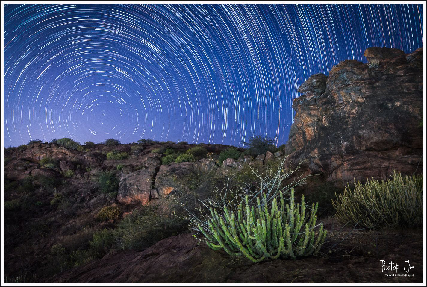 Star trails in Badami