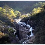 An unnamed waterfall in Sikkim on the way to Gurudongmar lake