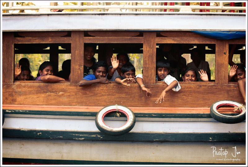 Kids on a Ferry at Allepy