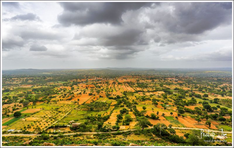 View from top of Yoganarasimha Temple at Melkote