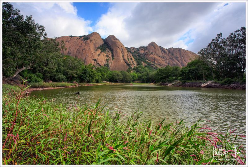 A view of the monolithic Savandurga