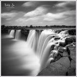 Chitrakote Falls in monochrome