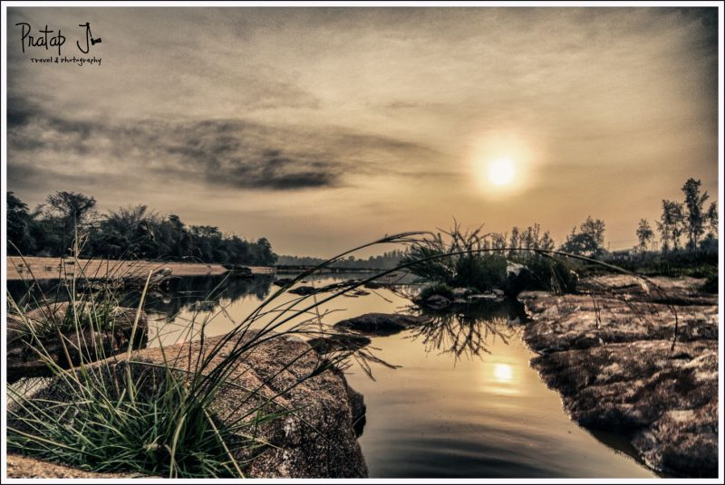 An HDR of the sun rising over the Nethravathi River