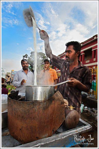 Tea Vendor in the Streets of Bangalore