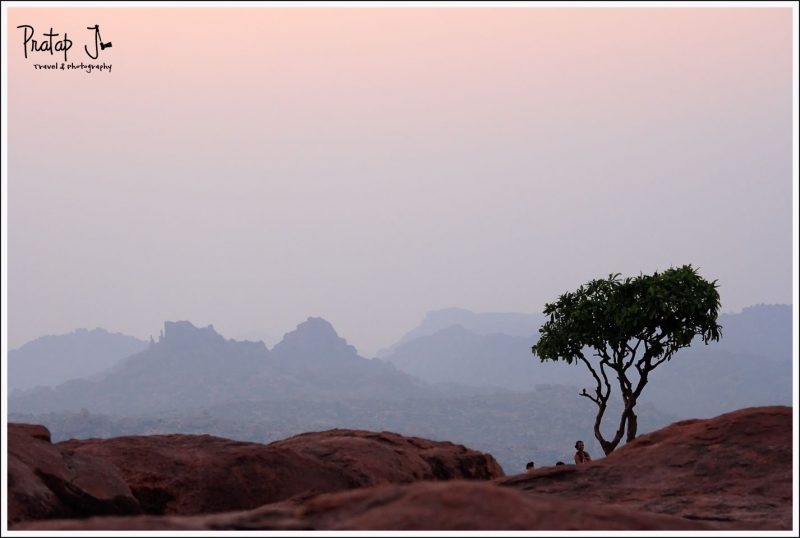 Foreigners on a Hill at Hampi