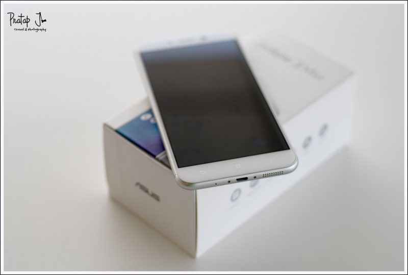 Front view of the Asus Zenphone 3 Max