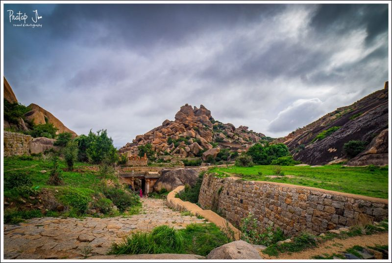 Hillocks wih huge boulders inside Chitradurga Fort