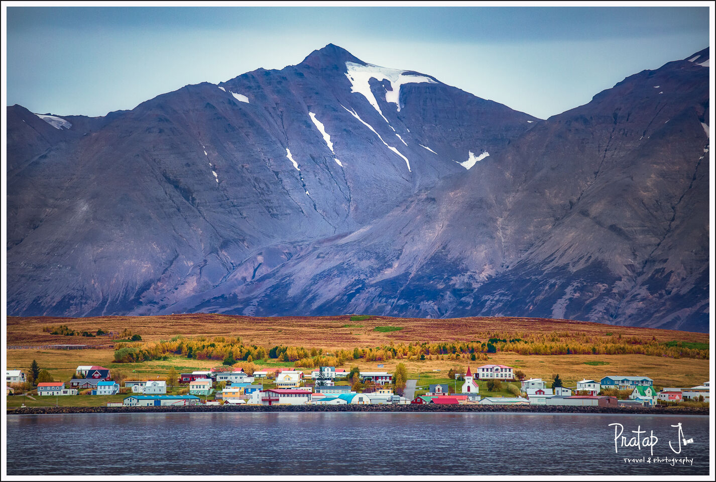 A small fishing village on the Arctic ocean
