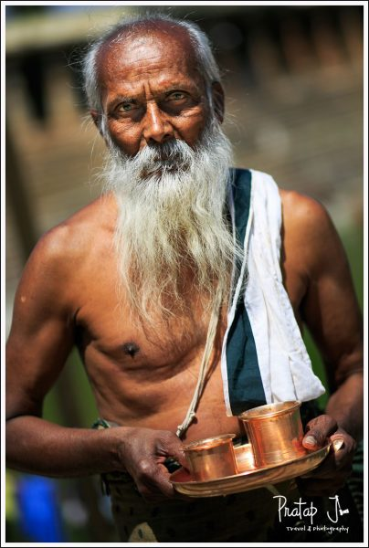 An Indian Priest With a White Beard and a Sacred Thread