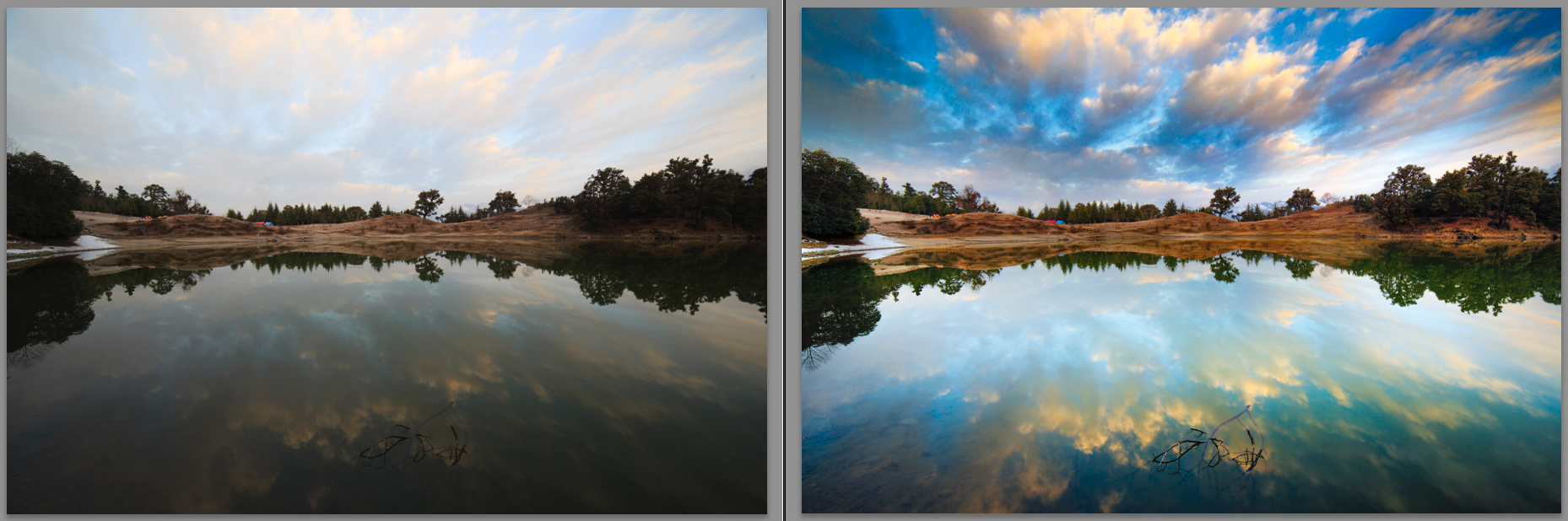 A photo showing the result of post processing in photoshop and Lightroom
