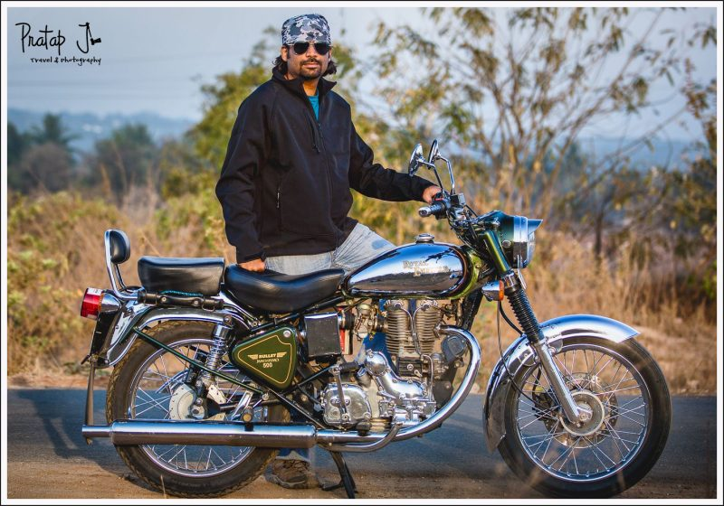 Biker with a restored Bullet Machismo