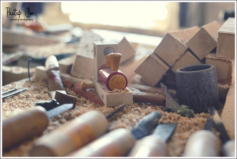 Hand tools to make wooden toys