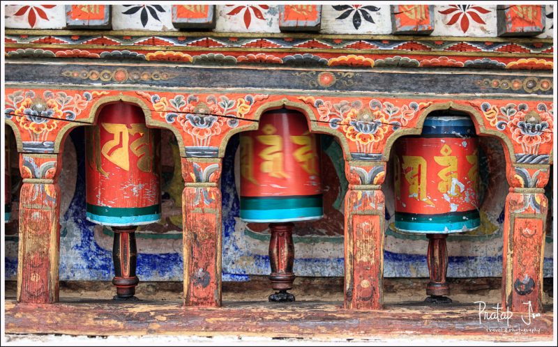Prayer Wheels at Kichu Lhakhang