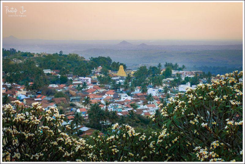 Melukote Town View from Yoganarasimha temple
