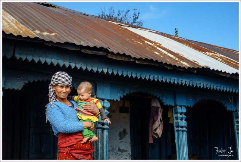 Gharwali woman and baby