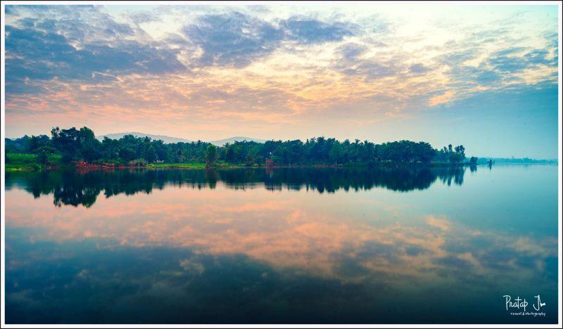 Still waters of Nelligudda Lake