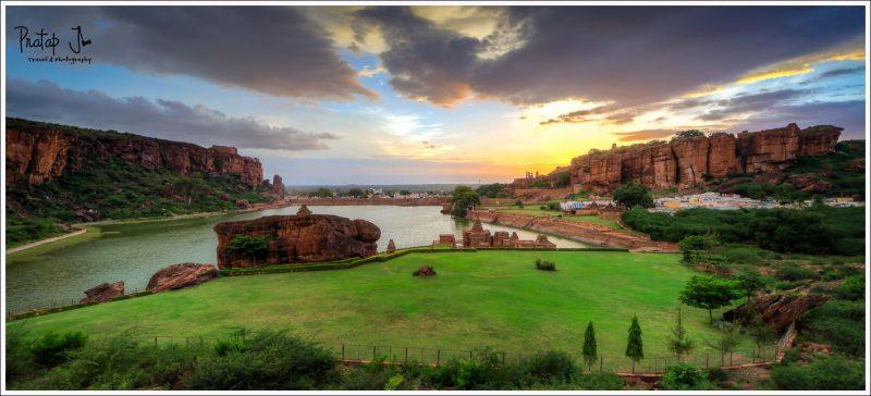 view of Badami ASI area in Karnataka