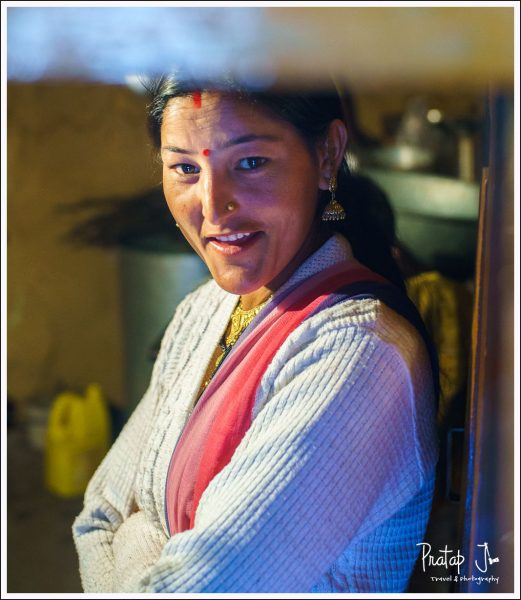 Portrait of a Gharwali Woman