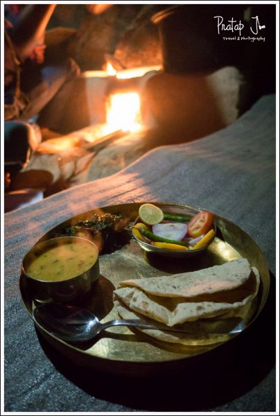 Hot rotis from the chulha