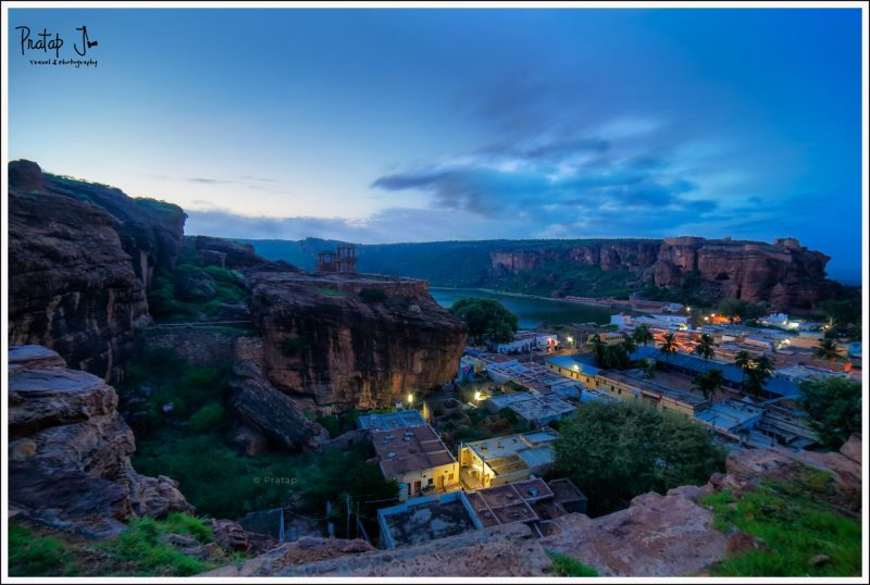 Badami old town at night