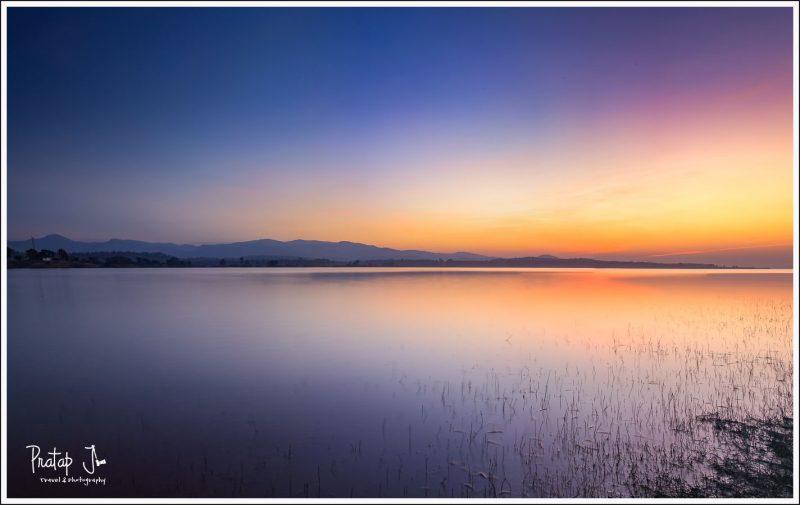Sunset at the Denwa River Bank