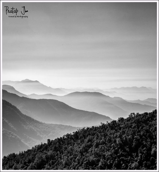 Black and White Landscape photo of the Himalayas